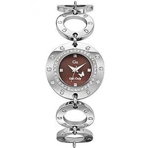 Go GO-693905 - Reloj para mujeres, correa de acero inoxidable color plateado