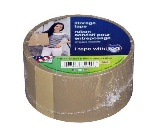 Intertape Polymer Group 9851 Acrylic Storage Tape, 1.85-Mil 1.88-Inch x 54.6-Yard, Tan