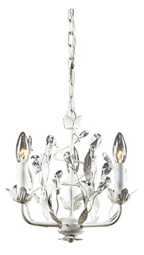 Circeo 3 Chandelier Light (Three Light Antique White Up Chandelier)