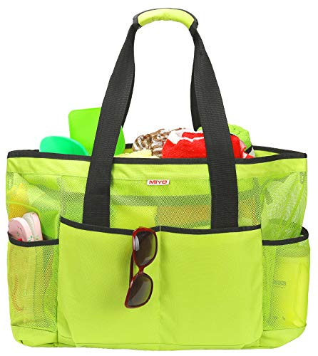 Price comparison product image Mesh Beach Bag -Extra Large Beach Tote Bag - Grocery & Picnic Tote Travel Bags Green