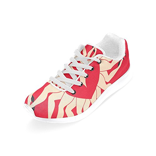 Woman Sports unicorn Lip Running InterestPrint Women Red Dance Shoes for Legs n6wYdxPS