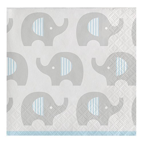 - Creative Converting 316933 80 Count Paper Beverage Napkins, Little Peanut- Boy