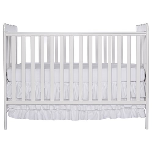 Dream On Me, Classic  3 in 1 Convertible Crib, White - Classic Pecan Finish