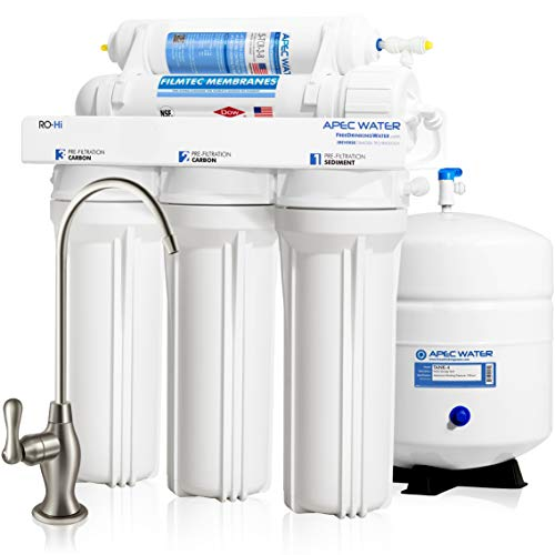 APEC Water Systems Ultimate RO-Hi Top Tier Supreme High Output Fast Flow Ultra Safe Reverse Osmosis Drinking Water Filter System ()