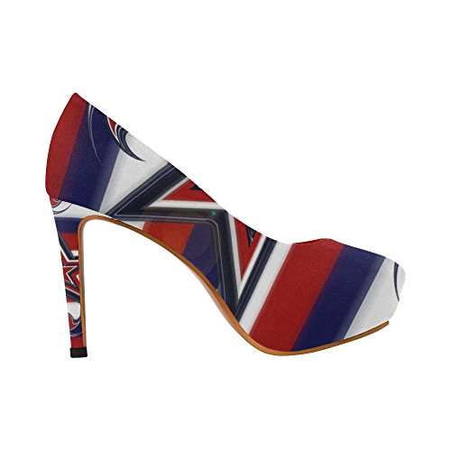 Womens Vintage High Stripes Womens Sexy High Heels Pump Shoes Strisce Colorate A Stelle