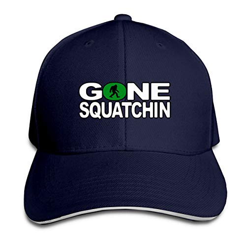 Hhill Swater Gone Squatchin Bigfoot Unisex Trucker Cap Cute Baseball Hats Dad Hat, Adjustable Outdoor Sport Hats Cap Fitted Hats