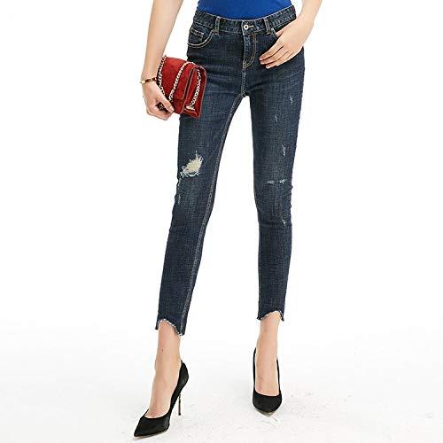 Vita Sono Jeans Xl Mvguihzpo Da Donna Moda I Deep Piccoli Irregolare Di L Hanno Una Irregolari E Blue Sqqg8w