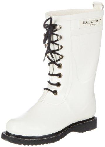 ILSE JACOBSEN 3/4 Gummistiefel Boots Womens White - Weiß (Weiss (10) 10) ac1sb