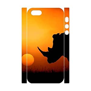 Rhinoceros Diy iPhone 5 5s Case iPhone 5 Case Cover VY119194 by ruishername