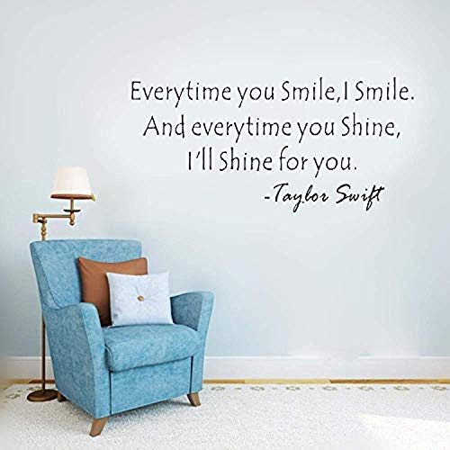 Bro Decals Wall Vinyl Decal Sports Quotes I'll Shine for You - Taylor Swift Vinyl Decor Sticker Home Art Print BR7417
