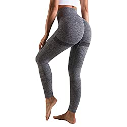 OUDOTA Damen High Waist Sports Leggins Lange, Blickdicht Sport Seamless Leggings Slim Fit Hohe Taille, Sporthose…