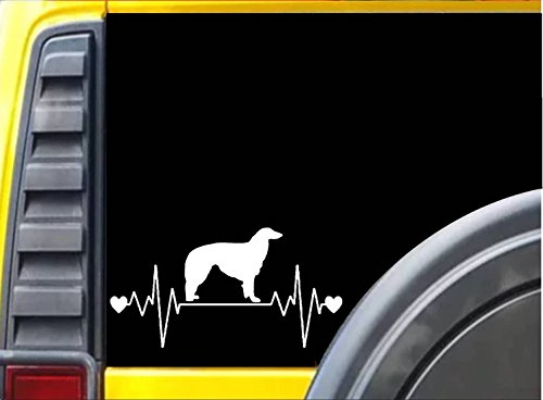 Borzoi Lifeline K977 8 inch Sticker dog decal