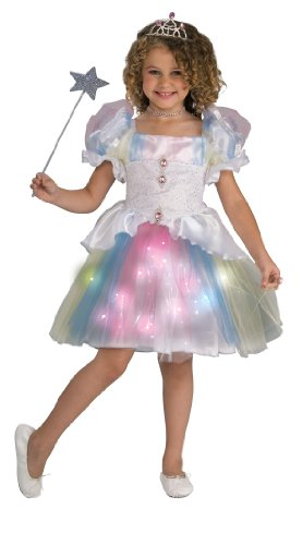 Ballerina Halloween Costume (Twinklers Rainbow Ballerina with Fiber Optic Skirt, Child's Medium)