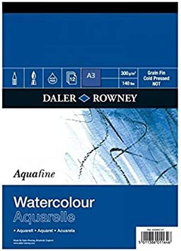 Daler Rowney Artists Watercolour Texture High Quality Pad A3 Cold Pressed New