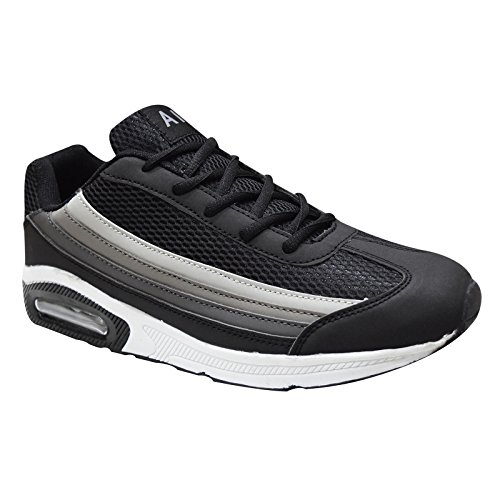 Xelay Mens New Gym Sports Trainers Air Bubble Max White Shock Absorbing Jogging Fitness Shoes Size 7-12 Black/white/grey p9OxiC