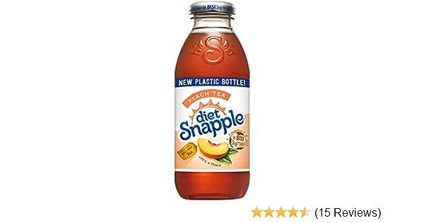 Amazon com : Diet Snapple Peach Tea, 16 fl oz (12 Plastic Bottles