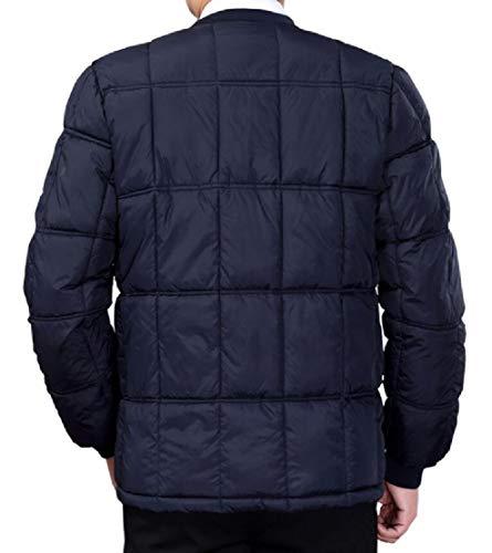 Collar EKU Down Jacket Mens Stand Packable Winter Navy Lightweight Blue Zipper Coats EOnxOSqw