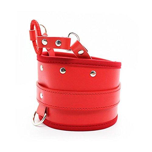 Strict Leather Locking Posture Collar Neck Wideband