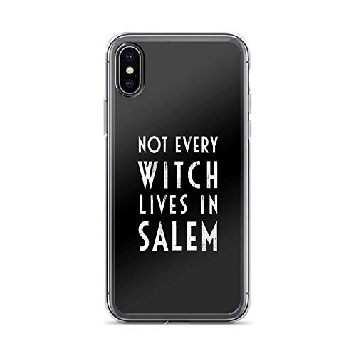 iPhone X Case iPhone Xs Case Cases Clear Anti-Scratch Not Every Witch Lives in Salem, not Every Witch Lives in Salem Cover Case for iPhone X/iPhone Xs, Crystal Clear -