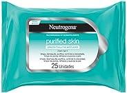 Lenços Demaquilantes Purified Skin Neutrogena, 25 unidades
