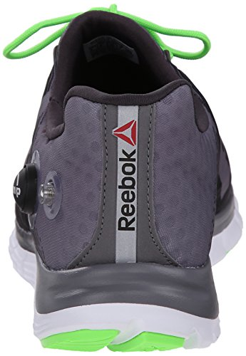 Reebok Hombres Z-pump Fusion Zapatillas De Running Shark / Gravel / Solar Green / White