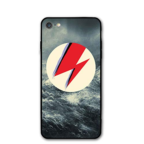 David Bowie 1947-2016 R.I.P iPhone 7 Case, iPhone 8 Case Slim Protection Scratch Resistant Hard Back Cover Shock Absorbent TPU Bumper Case for Apple iPhone (Ri Star Pocket)
