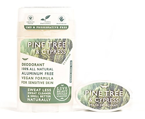 Cypress Pine Tree - Live Beautifully Vegan Deodorant - Pine Tree & Cypress - Aluminum Free