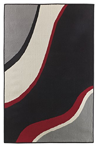 "Ashley Furniture Signature Design – Livy Color Area Rug – 4'3 x 6'11"" Medium Size – Bold Abstract Print For Sale"