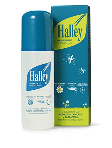 🥇 HALLEY Repelente Mosquitos Spray Todo Tipo de Insectos Protección de Larga Duración | 150ml
