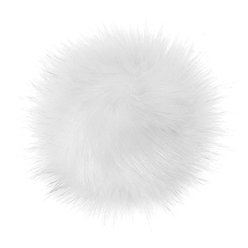 Rabbit Fur Keychain Pom Ball for DIY Hat, Hair Ornaments, Shoes, Gloves from Zwingtonseas