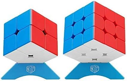 XMD Speed Cube Set, Juego de Cubo Mágico con 2x2 3x3 Cube, Smooth Y Rápido Cube Set para Principiantes Y Profesionales