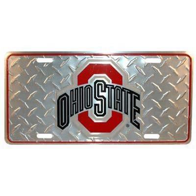 Graduation License Plates (Ohio State Buckeyes Auto License Plate (Diamond Plate))