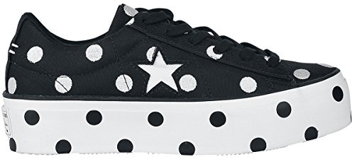 Zapatillas Converse White Black Negro OX Blanco Platform One Star rqwCIPq