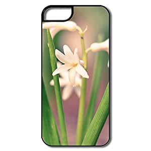 IPhone 5 5S Cases, White Hyacinth White/black Cases For IPhone 5S by supermalls