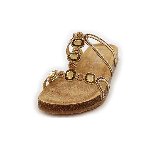 Donna Bionatura marrakbronzo sandalo oro