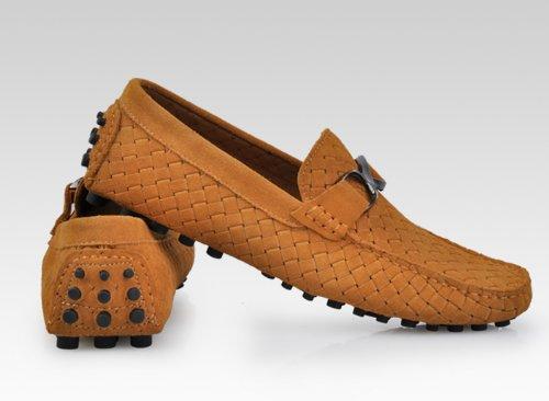 ... Happyshop (tm) Mens Semsket Skinn Veve Preging Ventilasjon Moccasin  Loafers Slip-on Drivende ...