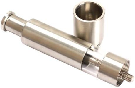 Tenflyer Klassische Gew/ürzm/ühle Holz Eiche Stainless steel Type 1 Pfeffer//Salz//Gew/ürz edelstahl