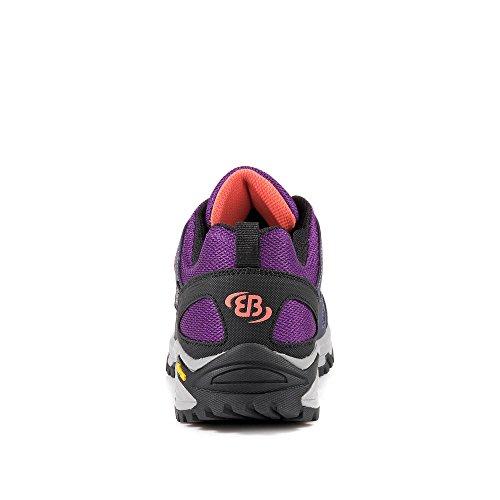 Brütting - Zapatillas de senderismo para mujer multicolor lila / negro