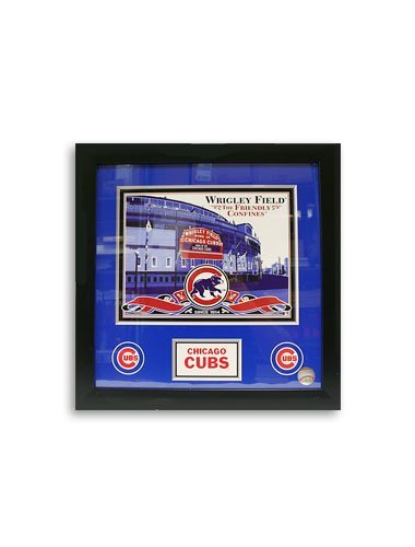 mlb-chicago-cubs-15x15-glass-framed-wrigley-field-the-friendly-confines-photo-artissimo