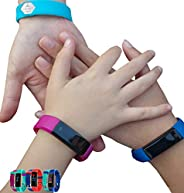 Kids Fitness Tracker Activity Tracker for Kids - Waterproof Smart Watches for Girls Boys Teens Youth Digital A