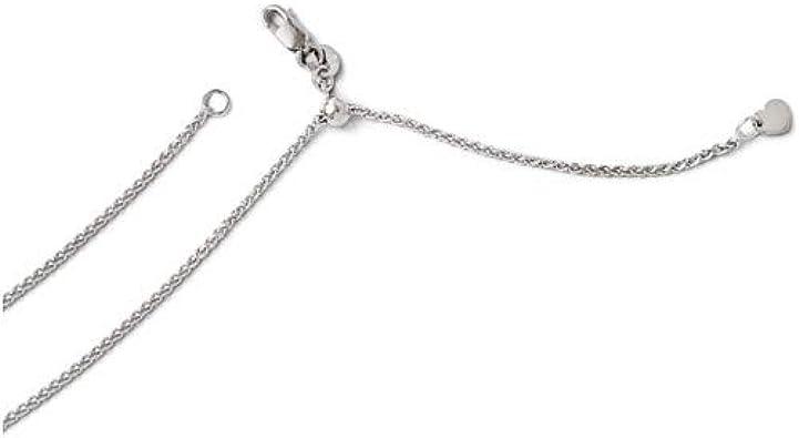 14k White Gold Spiga Wheat Chain Necklace