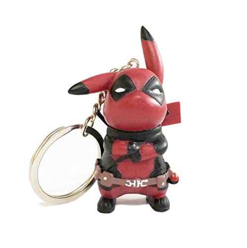 Pikachu Deadpool Cosplay Figure Collectible Model Toy