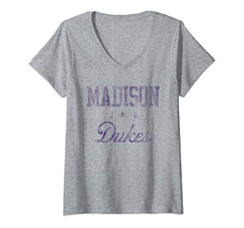 (Womens James Madison JMU Dukes NCAA 30jmu-1 V-Neck T-Shirt)