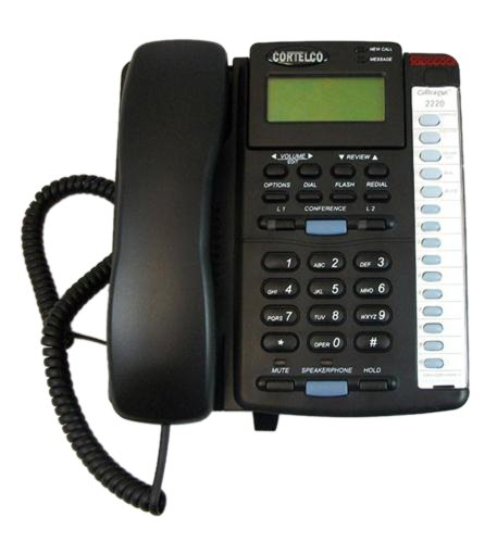2 Line Hotel Speakerphone (Cortelco 222000-Tp2-27e Colleague 2-Line Telephone En Bk)