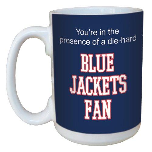 Tree-Free Greetings lm44176 Blue Jackets Hockey Fan Ceramic Mug with Full-Sized Handle, 15-Ounce ()