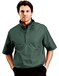 Mens Dual Collar Lightweight Half Placket Half Sleeve Windbreaker #1971