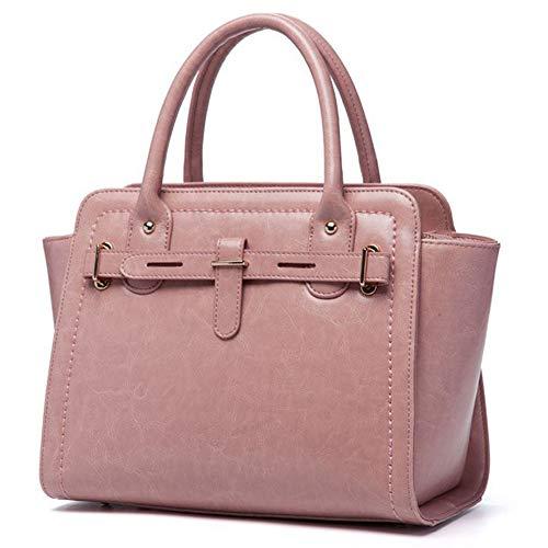 moda americana Nero pacchetto Marrone vacchetta spalla in e in Rosa Borsa pelle borsa diagonale Rosa europea FfWtRnA