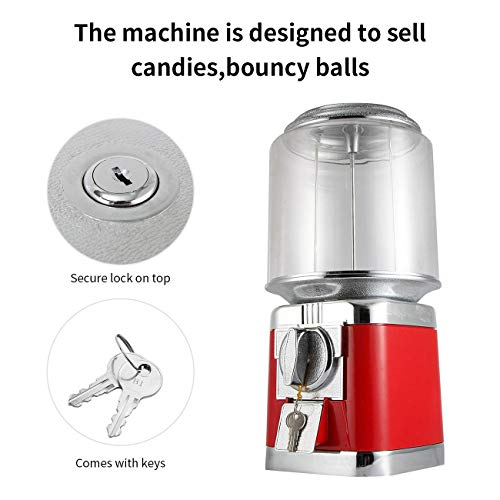 Gumball Machine Metal Gumball Candy Vending Machine Removable Canisters Capsule Bouncy Ball Gumball Vending Dispenser Machine by Dyna-Living (Image #1)