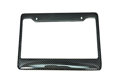 ICBEAMER Waterproof Black Plastic with Gloss Carbon Fiber on top Auto Truck Van Sedan License Plate Frame [Pack of 1 pc] 2004 Ford Focus Carbon