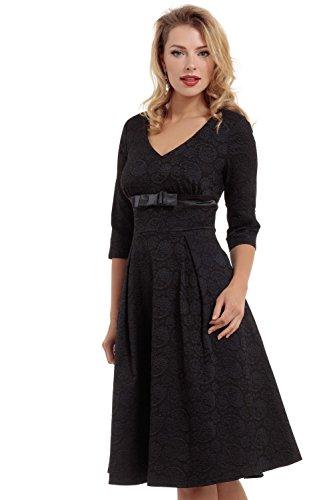 Voodoo-Vixen-Retro-50s-Rockabilly-Jane-Lace-Overlay-Stretch-Flair-Dress